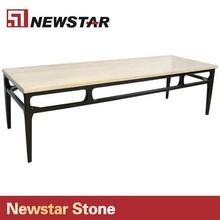 Newstar Good Quality Polished Travertine Table Top