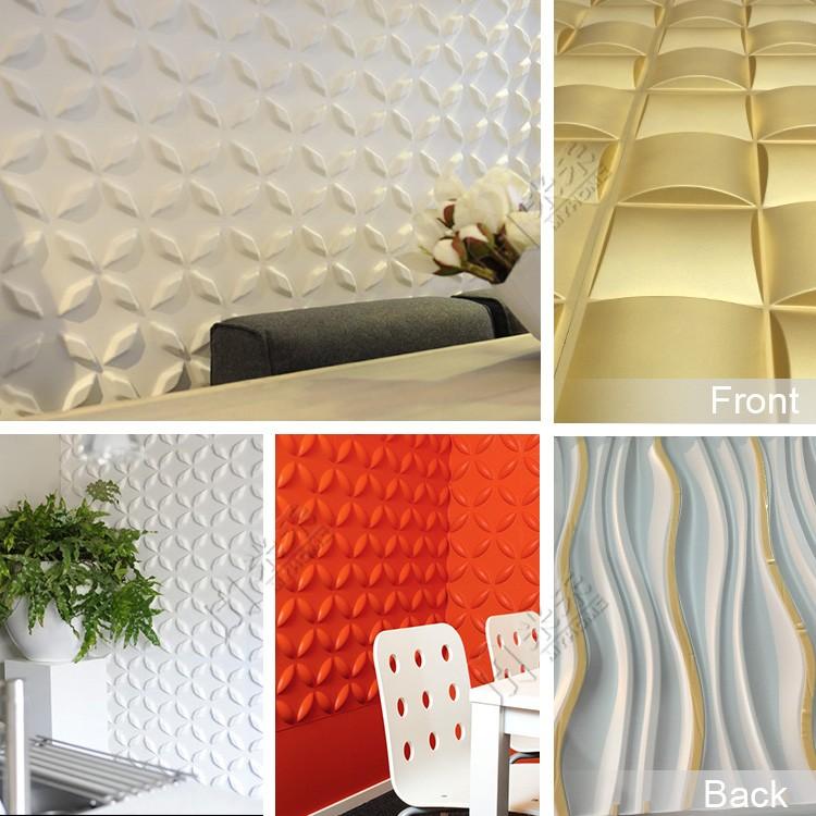 색깔 pu 벽 장식 재료 3d 벽 패널 플라스틱 패널-벽지 또는 벽 코팅 ...