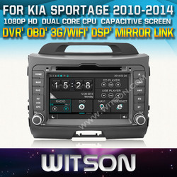 WITSON CAR DVD GPS FOR KIA SPORTAGE FRONT DVR CAPACTIVE SCREEN Mirror Link Function