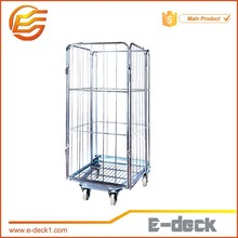 Stainless Steel Material Roll Container Structure collapsible warehouse roll cage