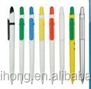 Wholesale simple colorful plastic electroplating stick logo ball pen CH-6661