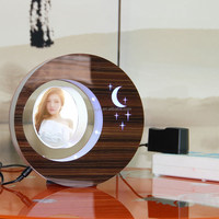 LED suspending in the air magnetic levitation photo frame gift wrap box for pen