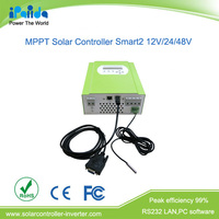 Peak efficiency up to 99% LCD display 20A mppt solar charge controller exporter