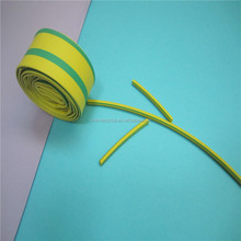Dual color yellow and green striped heat shrinkable sleeve/tube