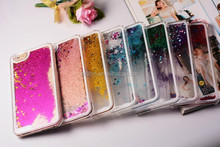 glitter flowing liquid star case for iphone 6/6+ and for samsung S4/S5,Note 2,note 3/4,s6/S6edge