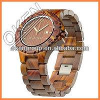 japan quartz movement geneva watch water proof newest design bamboo wood watch