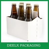 6 Pack Wine Or Beer Carrier White Brown