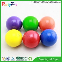 hot new products for 2015 eco-friendly promotional product 42 45 49 60mm diameter transparant high bouncing kids toy rubber ball