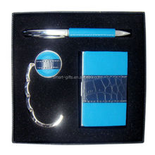 Boxed packaging business pen gift set with card holder and bag holder