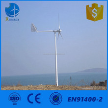 Medium type variable pitch wind turbine dynamo for home use