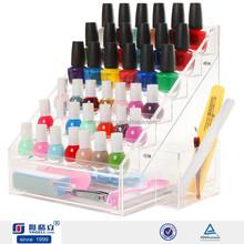 Estructura Simple yageli uñas esmalte de uñas esmalte / acrílico nail polish display bandejas mayorista