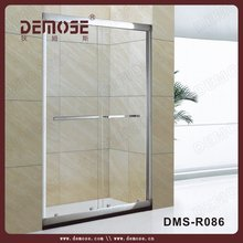 stainless steel corner entry shower cubicle