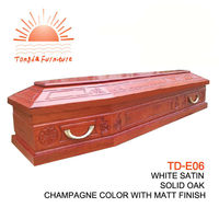 TD-E06 cheap newly designed funeral coffin