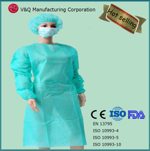 Green medical disposable isolation gown surgical accessories gowns