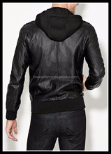 Brand New Hooded Jacket PU Leather Black Size S