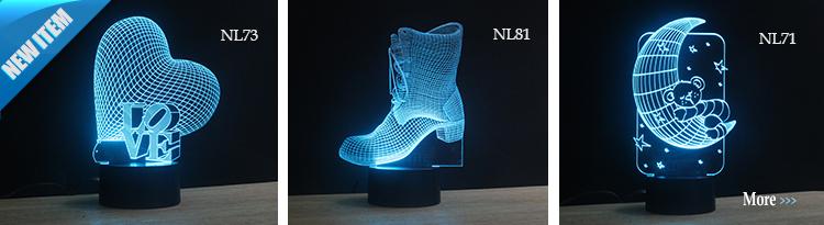 Modelos personalizados 3d deco luz novas idéias de produtos inovadores 2016 presentes NL4