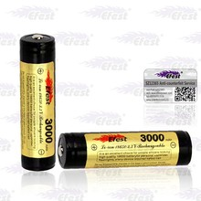 top selling lithium battery high quality Efest 18650 3000mah Li ion battery 3.7V rechargeable battery