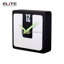 Quartz square MDF board desktop clocks