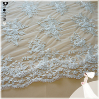 2015 dhorse bridal lace/DH-BF781 100% polyester pearls sequin beaded lace fabric/100% Eco-friendly latest embroidery designs