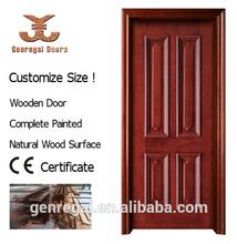 moderna pintura decorativa de madera natural de la piel de la puerta