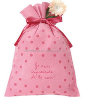 Cheap Non-woven Drawstring promotional Gift bag for packing with flower