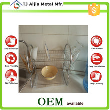 chrome plated Kitchen Shelves for drying dishes and plates