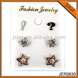 Newest alloy star stud earring sets