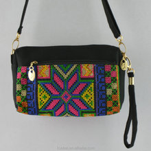 chinese windfashion ladies shoulder bag latest Three pull purse Embroidered three dual-use bag Cross-stitch single shoulder bag