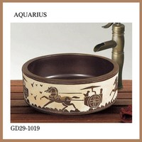2015 new product ceramic factory direct chinese art basin sink