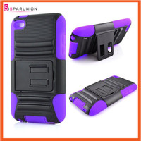 FOR IPOD TOUCH 4 ADVANCE PROTECTOR RUGGED TOUGH CASE COVER WITH STAND COMBO