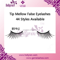 Customized Package Tip Mellow Natural Strip False Eyelashes