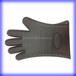 Barbeque Grilling Silicone Baking Gloves with Fingers Design