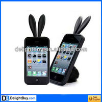 New Sweet rabbit Bunny Silicone Skin Case Cover For Apple iPhone 4 4G