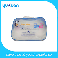 PVC waterproof small clear pouch/cosmetic bag with zipper