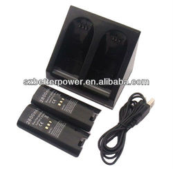 New Quad 2x Charger Station + 2x 2800mAh battery for Video game Nintendo Wii Game