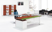 2012 modern design High quality office wooden executive table furniture with steel legs B001