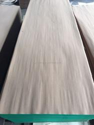 engineered artificial wood veneer elm611Q door veneer skateboards with fleece/paper backed