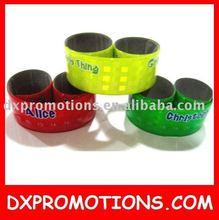 printed slap bracelet/reflective slap band
