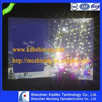 Custom Made Paper Greeting Card With Led
