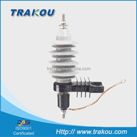 TRAKOU 12kv metal oxide gapless surge arrester/high voltage lightning arrester