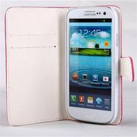 Lleather case for Samsung Galaxy S3,mobile phone leather case,leather phone case for S3