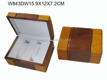 Two Tone Glossy Lacquer Woonden Gift Packaging Double Watch Box W843DW