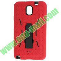 3 in 1 Plastic + Silicon Shockproof Case for Samsung Galaxy Note 3 III / N9000 with Holder