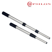Lightweight strong telescopic pole with PVC handle