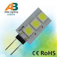 ce rohs mini 0.5w low power SMD5050 12v bulb g4 led
