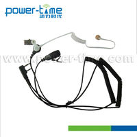 FM Transceiver Radio Clear tube headset with two curl wire clear tube earpieces for all radio.