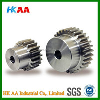 SUS303 stainless steel bore cut spur gears, price of small spur gears