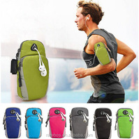 """Fitting Sports Armband Case Running Bag Cover Jogging Pouch for Sony Z2 Z3 Z4 for Huawei P7 5.5"""" Cell Phones"""