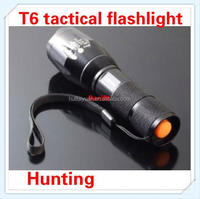 E17 CREE XML T6 2000 Lumens led Tactical rechargeable hunting flashlight