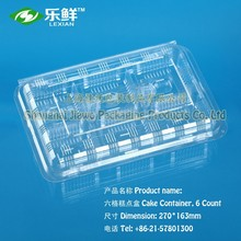 hot sale disposable blister packaging cake container six Count